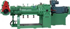 China Green 132 Kw Rubber Strainer Extruder With Electrical Control Cabinet on sale