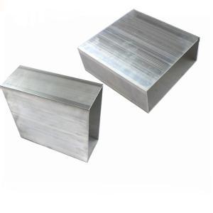 China 6060 6061 6063 Aluminium Tile Trim , Rectangle Aluminum Profile Tubing on sale