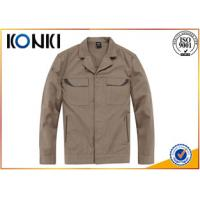 Warm Cotton / Polyester Custom Embroidered Jackets For Work Man