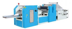 China High Speed  Tissue Paper Production Line 4 Line 1/8 Dinner Napkin Machine With 800 Pieces / Min on sale