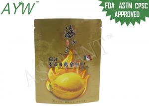 China Fresh Sea Food Packaging Bags Vivid Printing Customized Size For Mexico Abalone on sale