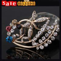 Crystal Brooches for Wedding Bouquet ,Large Opal Rhinestone Brooch Flower Wholesale