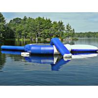 Blue Outdoor Inflatable Water Trampoline, Customized Inflatable Water Toys For Lake