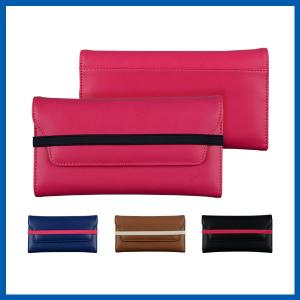 China Pink Phone Case Covers 3 Fold Credit ID Card Holder Handbag Clutch on sale