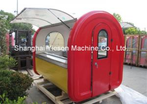 China Stainless Steel Food Cart Push Bar Street Vending Kiosk On Four Small Wheels on sale