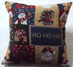 Almohadas del telar jacquar de la tapicería del cuadrado de la decoración de la Navidad