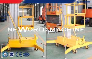 China 100kg 1.5kw Aerial Work Platform Aerial Lift Safety Superior on sale