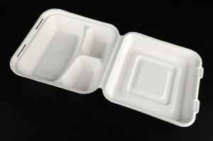 China Hot-Selling Bagasse food container, biodegradable disposable food container, biodegradable food container on sale