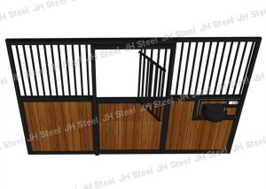China Hdpe Infilled Temporary Horse Steel Stall , 12 Foot Horse Stall Fronts on sale