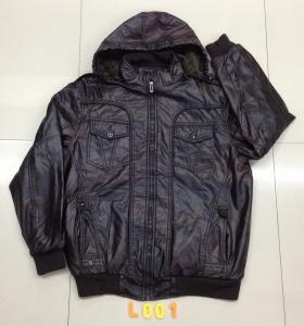 China L001 Men's pu jacket coat stock on sale