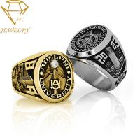 China Women'S High School 925 Silver Customized Class Rings on sale