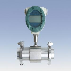China digital paddle wheel flow meter with wafer connection 4~20mA output on sale