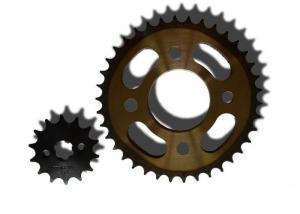 China Thermal Treatment 1045 Steel Motorcycle Sprocket Chain For Yamaha Motorbike Accessories on sale