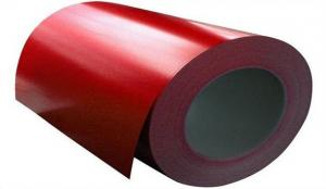 China PE PVDF Pre-Painted Colour Coated Steel Coil / Galvanized Steel Coil DX51D EN10142 on sale