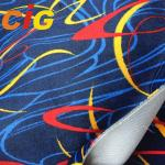Seat Cover Auto Upholstery Fabric 100% Polyester 150cm Width With Screen Printing