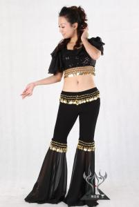 China Black Girls Belly Dancer Costume for Bar , Indian Belly Dancing Performance Wear on sale