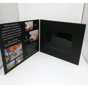 China 7 Inch Europe Style Lcd Video Card / Laser Cut Wedding Lcd Invitation Card on sale