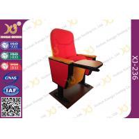 Oak Wood Armrest High Impact Folding Metal Legs Audience Seating 5 Years Warranty