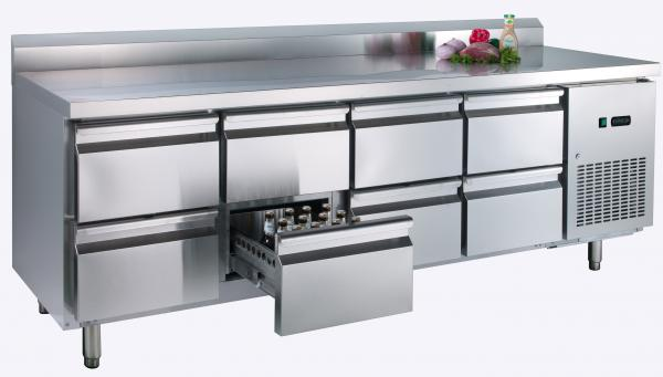 energy saving 473l commercial undercounter refrigerator with eight drawers images - Commercial Undercounter Refrigerator