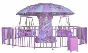 China Flyinh Charis 12P Carousel Kiddie Ride Purple For Kindergardens HR-QF048 on sale