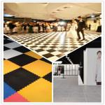 3W Interlocking Plastic Iinyl Dance Flooring Tiles Patterns For Exhibitions Hall