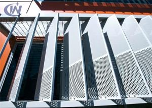 China Architectural Elements Perforated Aluminum Metal Sheet Powder Coated Surface on sale