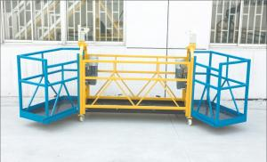 China Zlp630 Steel Special hanging scaffolding Working Platform / Gondola With Double Angle on sale