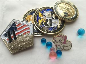 China High Quality Custom 3D Souvenir Metal Police Challenge Coin With Epoxy on sale