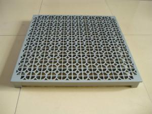 China Interchangeable Flexible Aluminium Flooring Perforated Elevated Floor Systems on sale