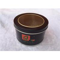 Circle Metal Tin Box Storage For Cookies , Tin Cylinder Container Eco Friendly