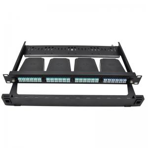 China 1U rack mount FHD fiber optic patch panel , holds up to 4x MTP-8 cassettes on sale