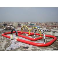Entermainment Inflatable Amusement Park With Gaint Inflatable Zorb Race Track