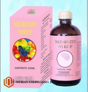 China Brown Liquid Neurozin Syrup Oral Suspension Medicine Syrup 240ml / Bottle / Box on sale