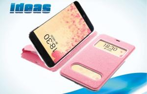 China Girls Pink Meizu Mobile Phone Protective Cover with Sleep Function , Stand Flip on sale