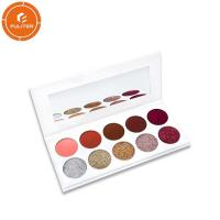 Simple eye shadow packaging make-up eye shadow own brand with cover