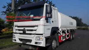 China Sinotruk 16m3 Capacity Radial Tyre Fuel Oil Transportation Trucks 6X4 LHD Euro 2 336HP Lengthened Cab on sale