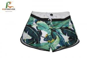 China Beachwear Plus Size Womens Board Shorts Short Length Microfiber Fabric on sale