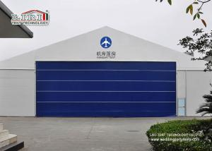 China 30x50m Aluminum Frame Helicopter Hangar Tent With Flexible PVC Roller Shutter on sale