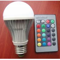 Wholesale 3W E27 RGB LED lamp LED light LED RGB bulb led rgb bulb remote DHL free shipping