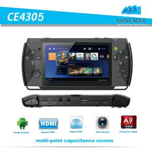 China SANEMAX 4.3 inch video game player RK3028 dual core Android handheld game players CE4305 on sale