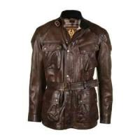 black, brown Cowhide Waterproof Windproof Mens genuine imitation leather coat