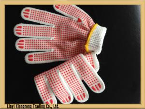 China PVC Dotted Glove for Construction Use , Safe working glove on sale