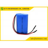 IFR14500 6.4 V 500mah Battery Rechargeable Lithium Ion Battery Wires Terminals