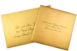 China Waterproof Kraft Paper Envelope , Square Invitation Card Envelope on sale