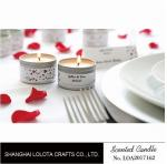 Silver And Golden Color Beautiful Scented Candles , Soy Wax Small Tin Candles