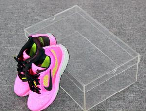 China Woman Shoes Storage Small Clear Acrylic Shoe Box Without Logo on sale