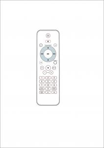 China High End Remote Control For Set Top Box , IPTV Set Top Box Remote Control  ABS Cover on sale