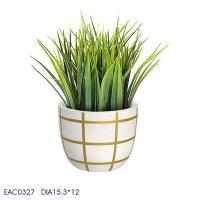 China Indoor Desktop Cylinder Flower Vase Color Drawing 15.3cm × 12cm ×15.3cm on sale