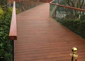 China Eco Poly Bamboo Deck Tiles 1220 Kg/M³ Density With Low Expansion Rate on sale