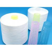 Raw White Plastic Cone Spun Polyester Yarn Ring Spinning / Two-For-One Technics